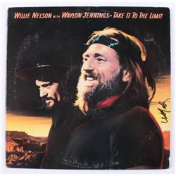 Willie Nelson Signed  Take It To The Limit  Vinyl Album Cover (JSA COA)