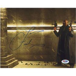 "Laurence Fishburne Signed ""The Matrix Revolutions"" 8x10 Photo (PSA COA)"