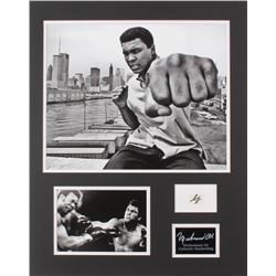 Muhammad Ali 16.25x20.25 Custom Matted Cut Display with (1) Hand-Written Word from Letter (JSA LOA)