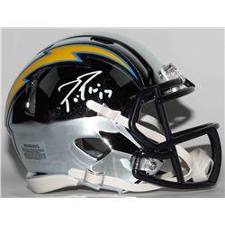 Philip Rivers Signed San Diego Chargers Chrome Speed Mini-Helmet (Radtke COA)