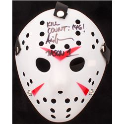 """Ari Lehman Signed """"Friday the 13th"""" Jason Voorhees Mask Inscribed """"Kill Count: 146!""""  """"Jason 1"""" (PA"""