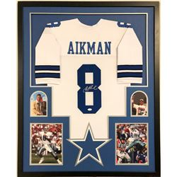 Troy Aikman Signed 34x42 Custom Framed Jersey (JSA COA)
