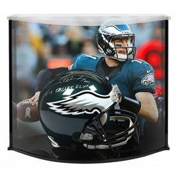"Carson Wentz Signed Philadelphia Eagles Full-Size Authentic On-Field Helmet Inscribed ""AO1""  ""Fly Ea"