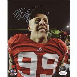 J. J. Watt Signed Wisconsin Badgers 8x10 Photo (JSA COA  Watt Hologram)