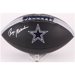 Roger Staubach Signed Dallas Cowboys Logo Football (JSA COA)