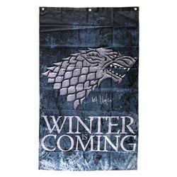 "Kit Harington Signed ""Game Thrones: Winter is Coming"" 30x50 Banner (Radtke COA)"
