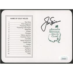 "Jack Nicklaus Signed ""Masters"" Augusta National Golf Club Score Card (JSA COA)"