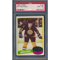 1980-81 Topps #140 Ray Bourque RC (PSA 8)