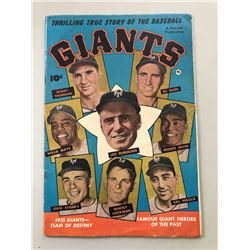 "1951 ""Thrilling True Story of the Baseball Giants"" Issue #1 Fawcett Publications Comic Book"