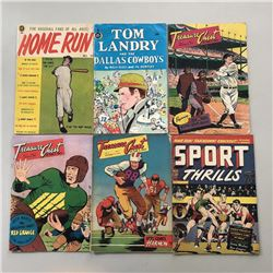 Lot of (12) Assorted Golden Age Sports Comics Comic Books