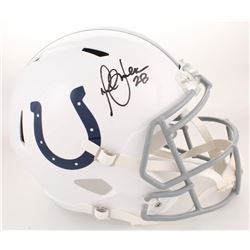 Marshall Faulk Signed Indianapolis Colts Full-Size Speed Helmet (Radtke COA)