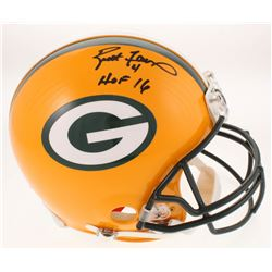 "Brett Favre Signed Green Bay Packers Full-Size Authentic On-Field Helmet Inscribed ""HOF 16"" (Radtke"