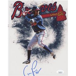 Christian Pache Signed Atlanta Braves 8x10 Photo (JSA COA)