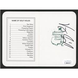 "Vijay Singh Signed ""Masters"" Augusta National Golf Club Scorecard (JSA COA)"