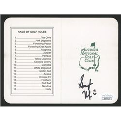"Smylie Kaufman Signed ""Masters"" Augusta National Golf Club Scorecard (JSA COA)"