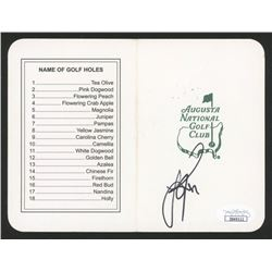 "Justin Rose Signed ""Masters"" Augusta National Golf Club Scorecard (JSA COA)"