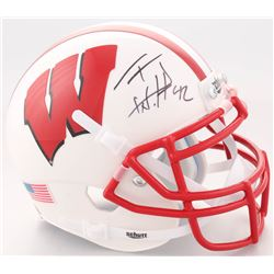 T.J. Watt Signed Wisconsin Badgers Mini-Helmet (JSA COA  Watt Hologram)