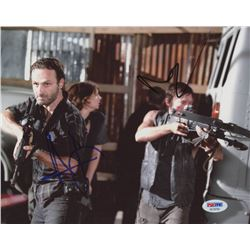 """Andrew Lincoln  Norman Reedus Signed """"The Walking Dead"""" 8x10 Photo (PSA COA)"""