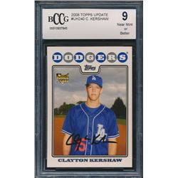 2008 Topps Update #UH240 Clayton Kershaw RC (BCCG 9)