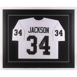 Bo Jackson Signed 35.5x43.5 Custom Framed Jersey (Radtke COA)