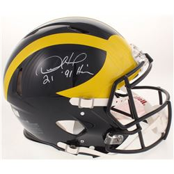 """Desmond Howard Signed Michigan Wolverines Full-Size Authentic On-Field Speed Helmet Inscribed """" '91"""