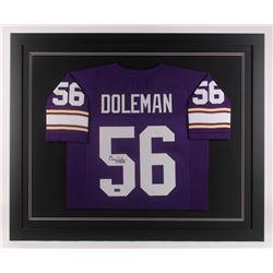 "Chris Doleman Signed 35.5x43.5 Custom Framed Jersey Inscribed ""HOF 12"" (Radtke COA)"