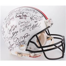 NFL Hall of Fame Legends Full-Size Authentic On-Field Helmet Signed by (39) with Joe Montana, Jerry