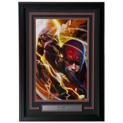 "Greg Horn Signed ""Flash"" 20x26 Custom Framed Lithograph Display (JSA COA)"