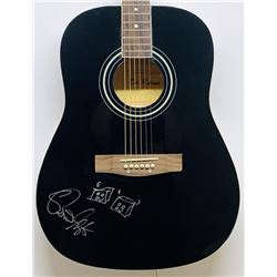 Brian Setzer Signed Acoustic Guitar with Hand-Drawn Picture (JSA COA)