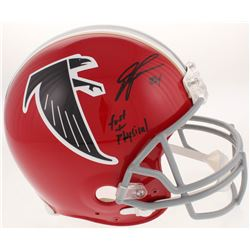 "Devonta Freeman Signed Atlanta Falcons Throwback Full-Size Authentic On-Field Helmet Inscribed ""Fast"