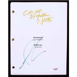 "Armie Hammer Signed ""Call Me by Your Name"" Movie Script (PSA COA)"