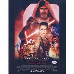 "Rian Johnson  Andy Serkis Signed ""Star Wars The Last Jedi"" 11x14 Photo (PSA COA)"