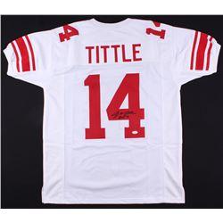 "Y. A. Tittle Signed Jersey Inscribed ""HOF 71"" (JSA COA)"