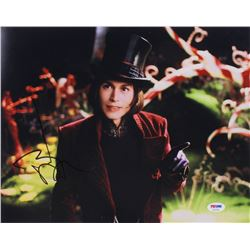 """Johnny Depp Signed """"Charlie and the Chocolate Factory"""" 11x14 Photo (PSA COA)"""