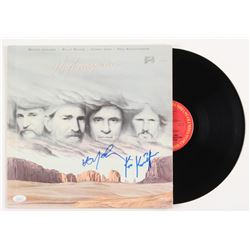 "Willie Nelson  Kris Kristofferson Signed ""Highwayman"" Vinyl Record Album (JSA COA)"