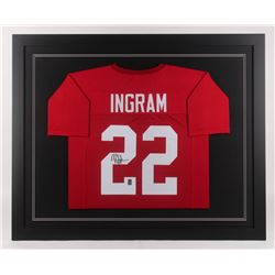 Mark Ingram Signed 35.5x43.5 Custom Framed Jersey (Ingram Hologram)