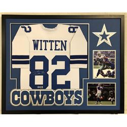 Jason Witten Signed 34x42 Custom Framed Jersey (Beckett COA  Witten Hologram)