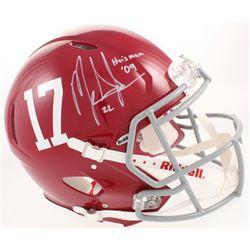 "Mark Ingram Signed Alabama Crimson Tide Full-Size Authentic On-Field Speed Helmet Inscribed ""Heisman"