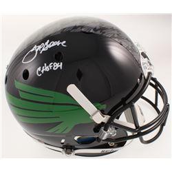 "Joe Greene Signed North Texas Mean Green Full-Size Helmet Inscribed ""CHOF 84"" (Radtke COA)"