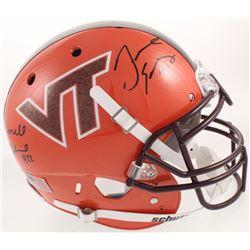 Terrell Edmunds  Tremaine Edmunds Signed Virginia Tech Hokies Full-Size Authentic On-Field Helmet (R