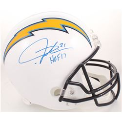 "LaDainian Tomlinson Signed San Diego Chargers Full-Size Helmet Inscribed ""HOF 17"" (Radtke COA)"