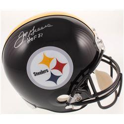 "Joe Greene Signed Pittsburgh Steelers Full-Size Helmet Inscribed ""HOF 87"" (JSA COA)"