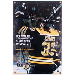 Zdeno Chara Signed Boston Bruins Stanley Cup 20x30 Display Sign (Chara Hologram)