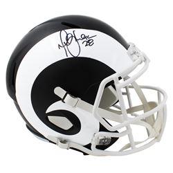 Marshall Faulk Signed St. Louis Rams Matte Black Full-Size Speed Helmet (Schwartz Sports COA)