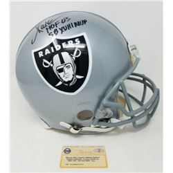 """Marcus Allen Signed Raiders Full-Size Authentic On-Field Limited Edition Helmet Inscribed """"HOF 03"""""""