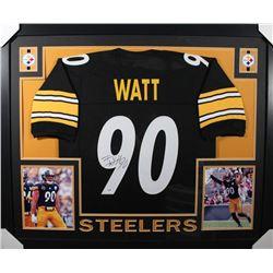 T. J. Watt Signed 35x43 Custom Framed Jersey (PSA COA)