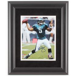 Donovan McNabb Signed Philadelphia Eagles 14x17 Custom Framed Photo Display (Schwartz COA)