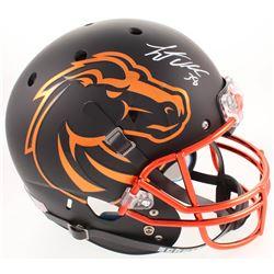 Leighton Vander Esch Signed Boise State Broncos Matte Black Full-Size Helmet (Radtke COA)