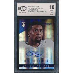 2014 Prestige Extra Points Blue Autographs #275 Odell Beckham Jr. RC (BCCG 10)