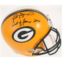 """Brett Favre Signed Green Bay Packers Full-Size Limited Edition Helmet Inscribed """"Hall of Fame 2016"""""""